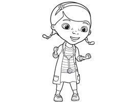 Disney junior coloriages docteur la peluche - Coloriage de docteur la peluche ...