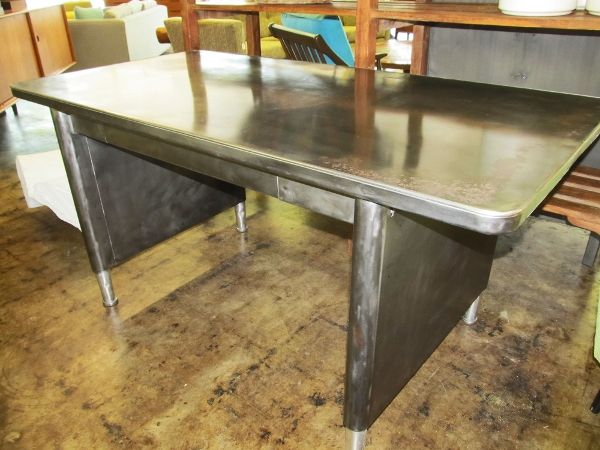 Industrial Burnished Metal Desk From The 1950u0027s. Super Hip Desk For Home Or  Office,