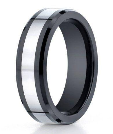 Designer Cobalt Chrome and Black Ceramic Men's Wedding Ring   7mm    Another possible ring. C: