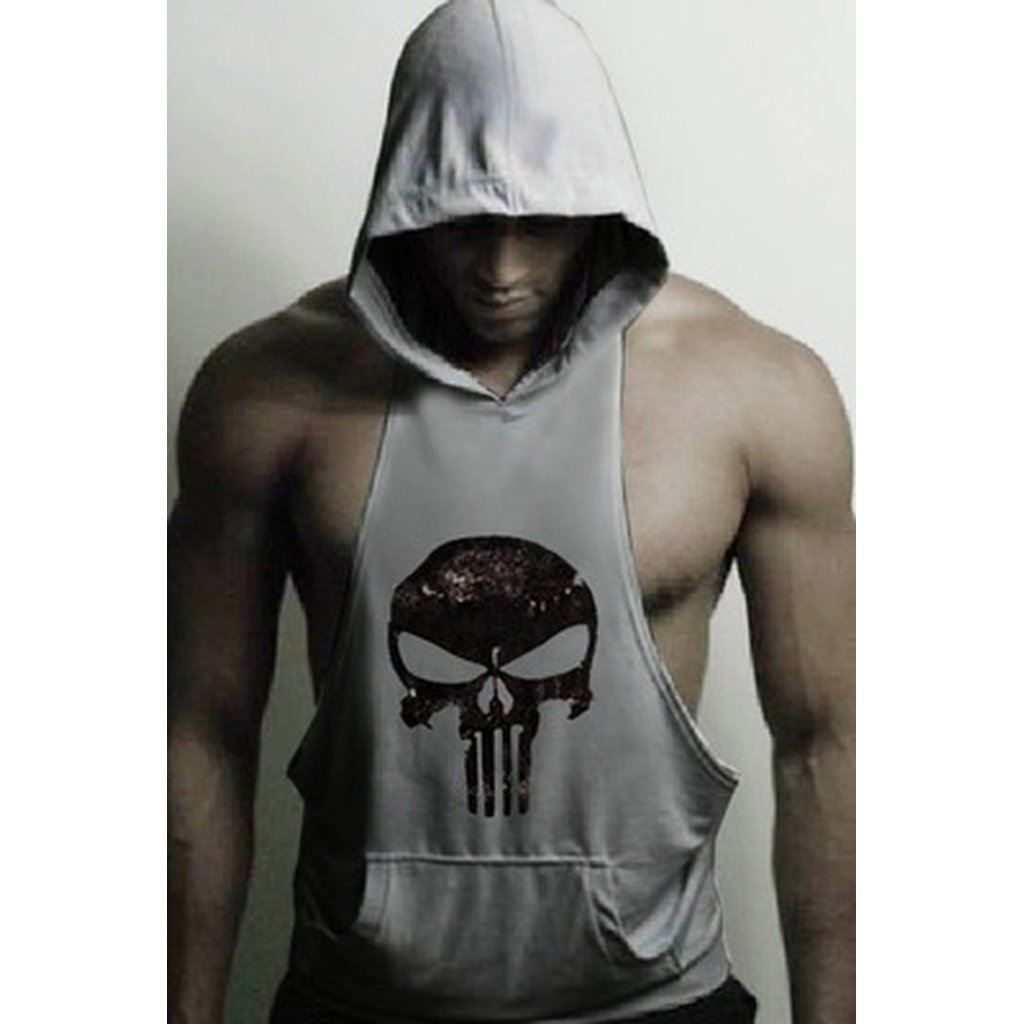 69ad5f6612735 Hot Men Gym Clothing Bodybuilding Stringer Hoodie Tank Top Muscle Hooded  Shirt