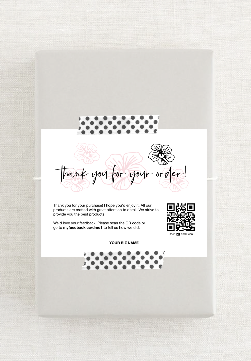 Printable Thank You For Your Order Cards Business Thank You Etsy Business Thank You Cards Business Thank You Thank You Cards