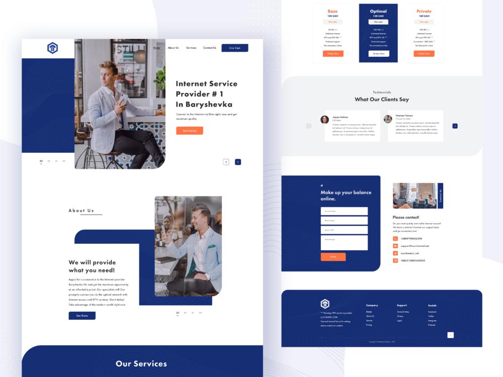 Homepage Internet Service Agency In 2020 Homepage Design Internet Website Design Inspiration