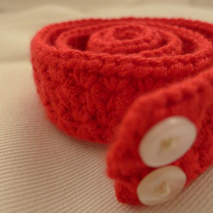 Red Belt Pattern And Tutorial Easy Accessories Pinterest