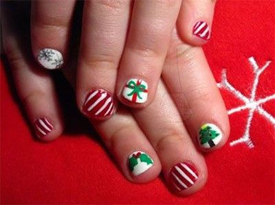 Christmas Nail Art Designs For Kids In 2019 Nail Art For