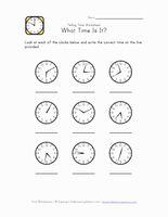 Time Worksheet 1 Minute Intervals Time Worksheets Telling Time Worksheets Kindergarten Telling Time