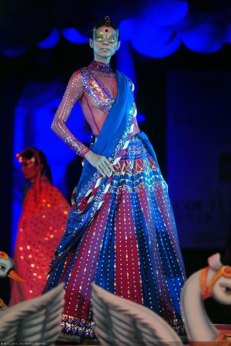 Royal blue n yellow dress  View DCW u Day  Manish Arora Pics on TOI Photogallery  sarees