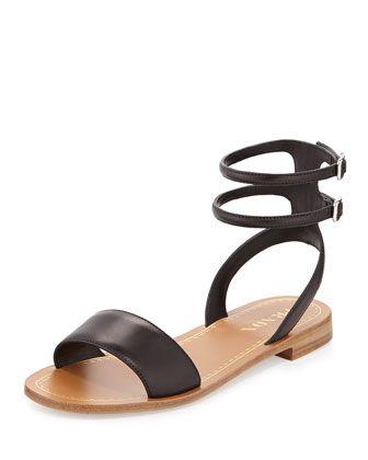 f63c30f9f Double Ankle-Wrap Flat Sandal