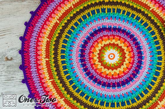 Colorful Rug - PDF Crochet Pattern - Instant Download - Home Decor Crochet Carpet Colorful