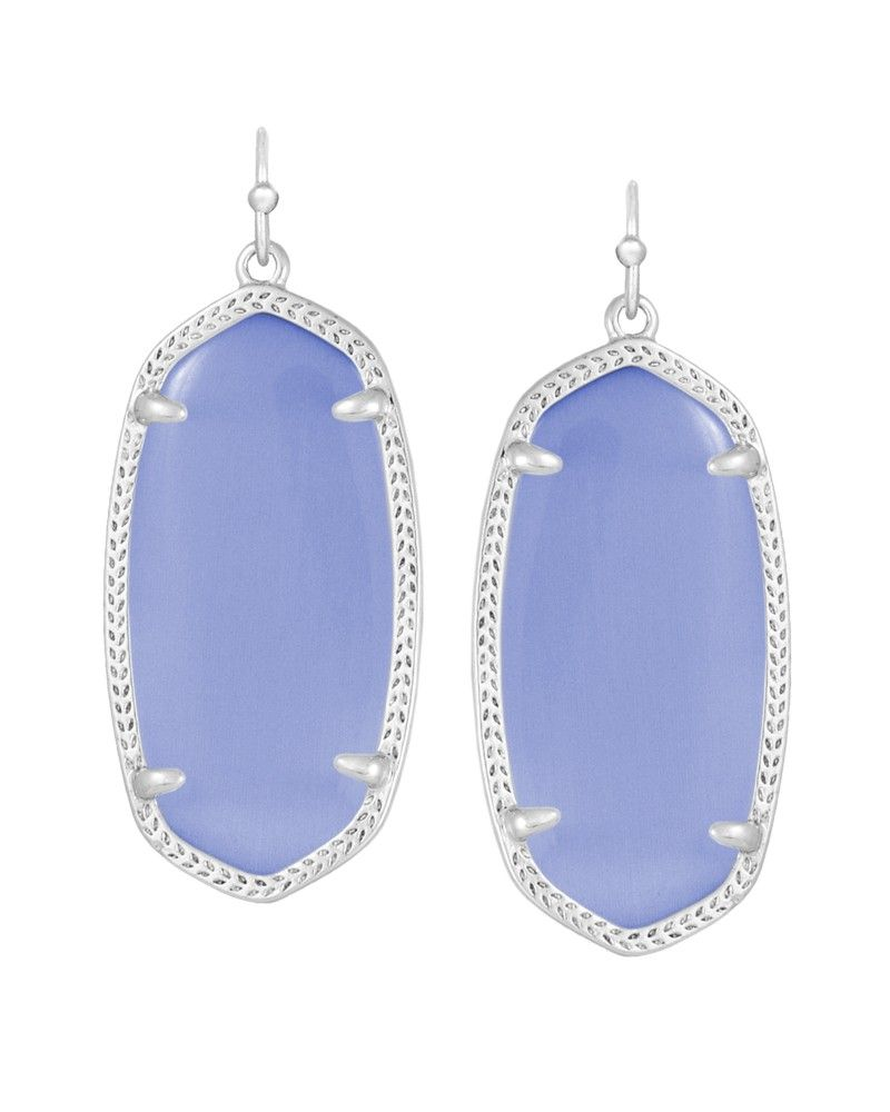 73ded3442 Elle Silver Earrings in Periwinkle Cat's Eye - Kendra Scott Jewelry ...