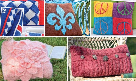 Five Trendy Pillows Free Knitting Patterns Knitted Snuggle Ups
