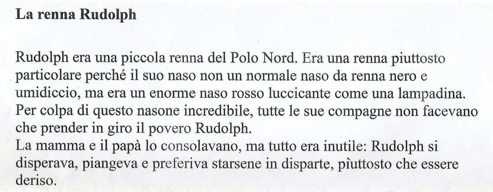Maestra Caterina Rudolph La Renna Dal Naso Rosso Natale