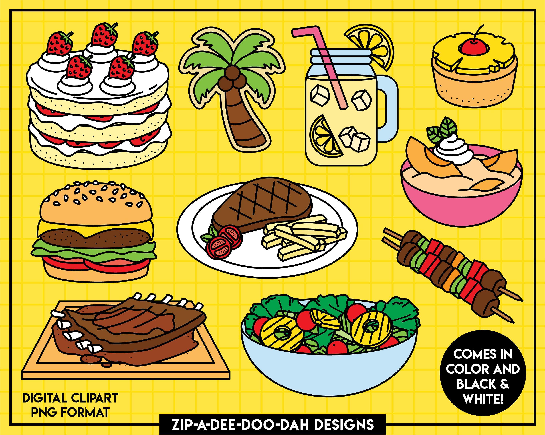 Summer Food Clipart Set {Zip-A-Dee-Doo-Dah Designs ...