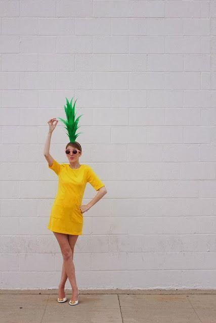 last minute halloween costume diy pineapple diy diy kost m ananas kost m und fasching. Black Bedroom Furniture Sets. Home Design Ideas