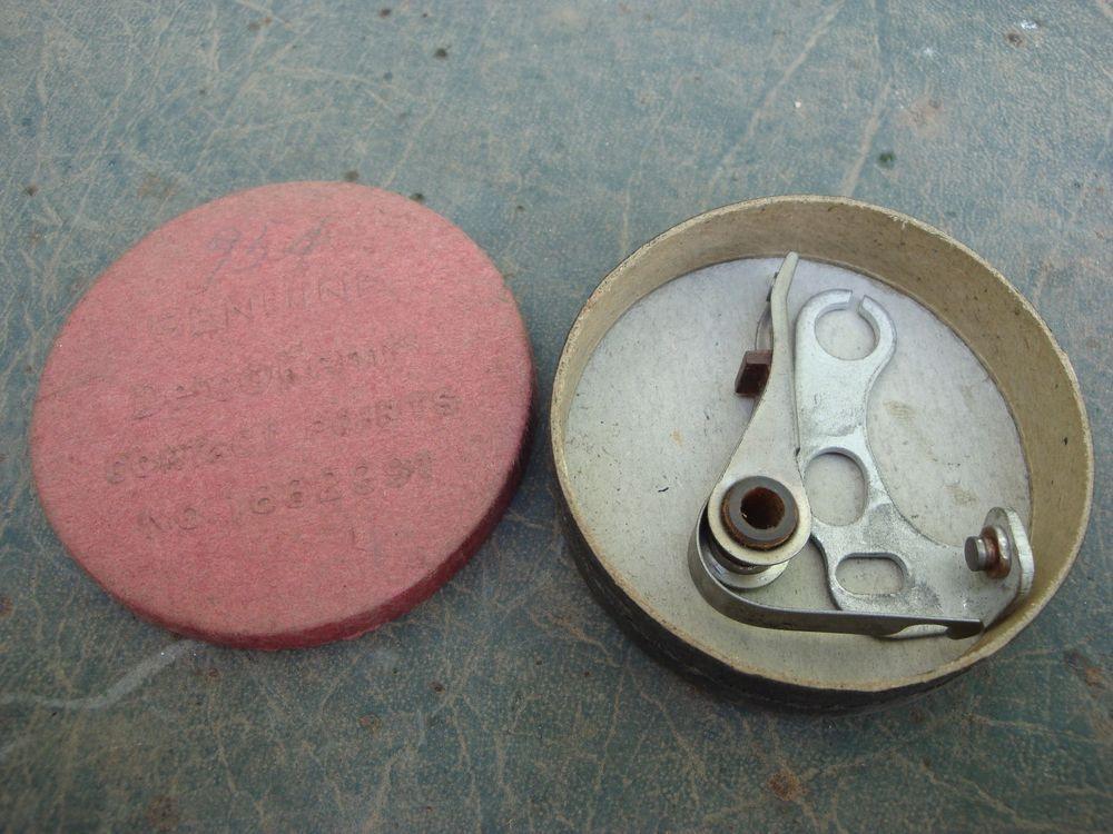 Genuine delco-remy ignition point set 1855720: oem vintage nos