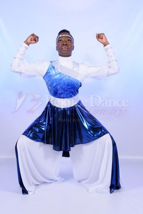 Worshiper Sleeveless Velvet Metallic 3pc Set Praise Worship Dance Wear Dance Garments Worship Dance Praise Dance Garments