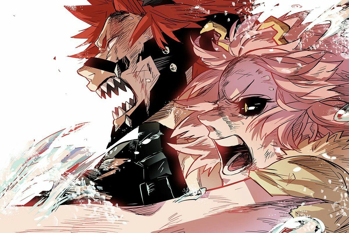 Kirishima X Ashido Kirishima Eijirou Ashido Mina Boku No Hero Academia Anime Hero My Hero