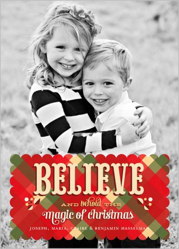 Believe in the magic of Christmas Behold The Magic Christmas Card