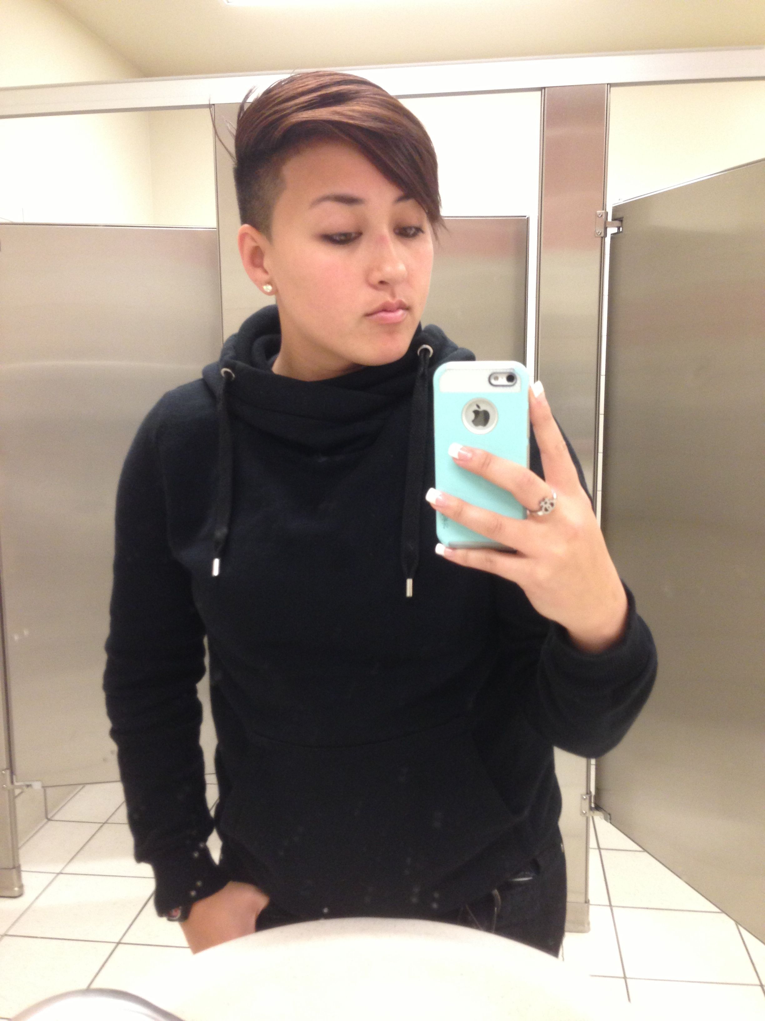 Lesbians with short haircuts