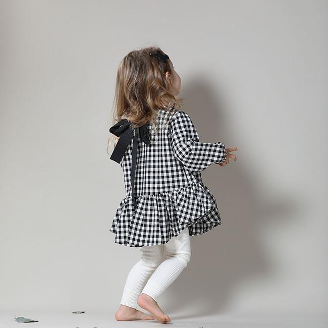 Arim Closet Checkered Frill Blouse