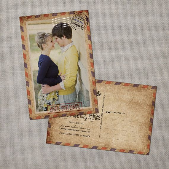 "Vintage Save the Date Postcard - the ""Vivienne"" on Etsy, $38.00"