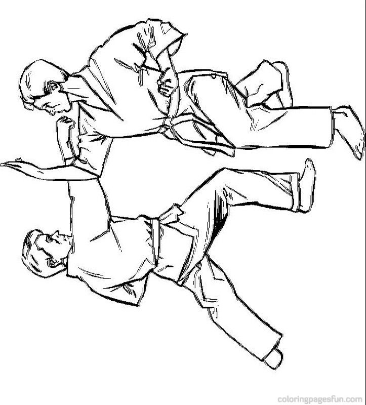 Karate Coloring Pages 5