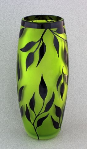 Vase Painting Designs Correia Art Glass Vase Chartreuse And