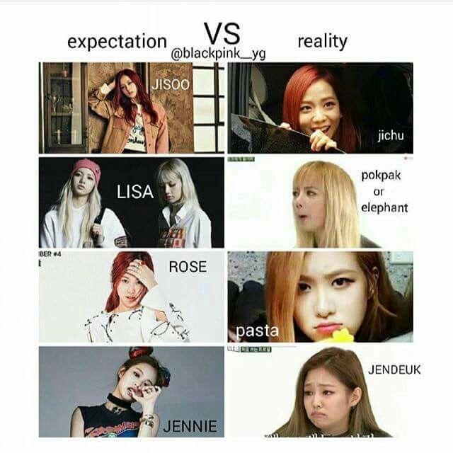 Blackpink Yg Kpop Blink Meme Jisoo Jennie Rose Chaeyoung Roseanne Lisa Lalisa Manoban Blackpink Memes Blackpink Funny Kpop Memes
