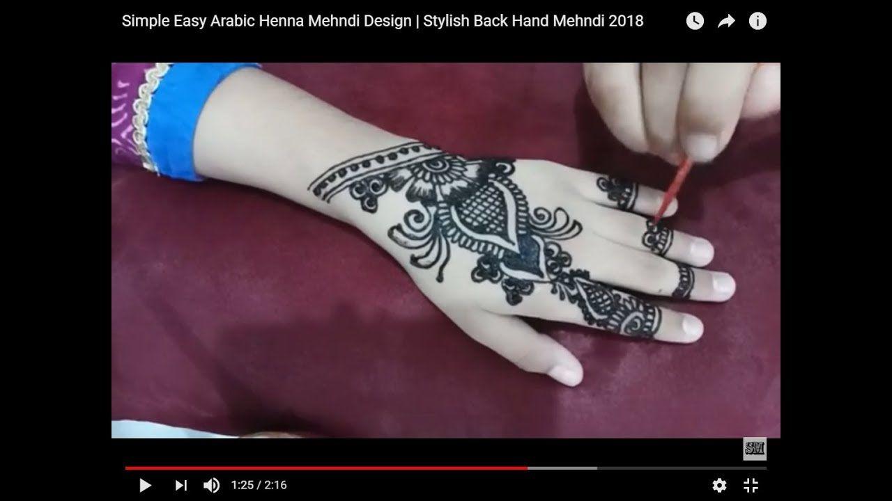 Simple Easy Arabic Henna Mehndi Design Stylish Back Hand Mehndi