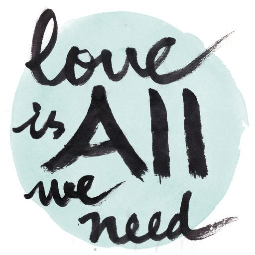 Love Is All We Need By Qingji On Crated Custom Art Print Love Is All Black Throw Pillows