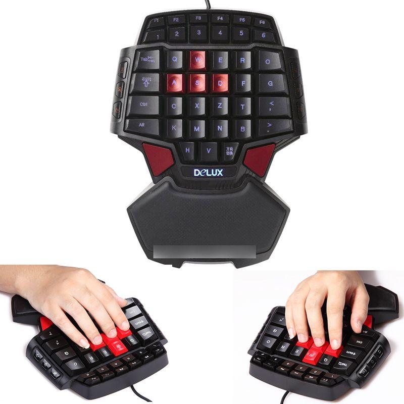Delux T9 Professional Mini Keyboard | Smart Gaming Keyboards | Mini