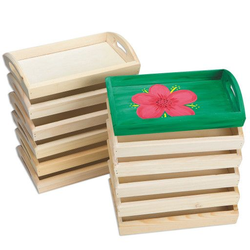 Wooden Trays To Decorate Cool Buy Wood Trays Pack Of 12 At S&s Worldwide  Websites 2018