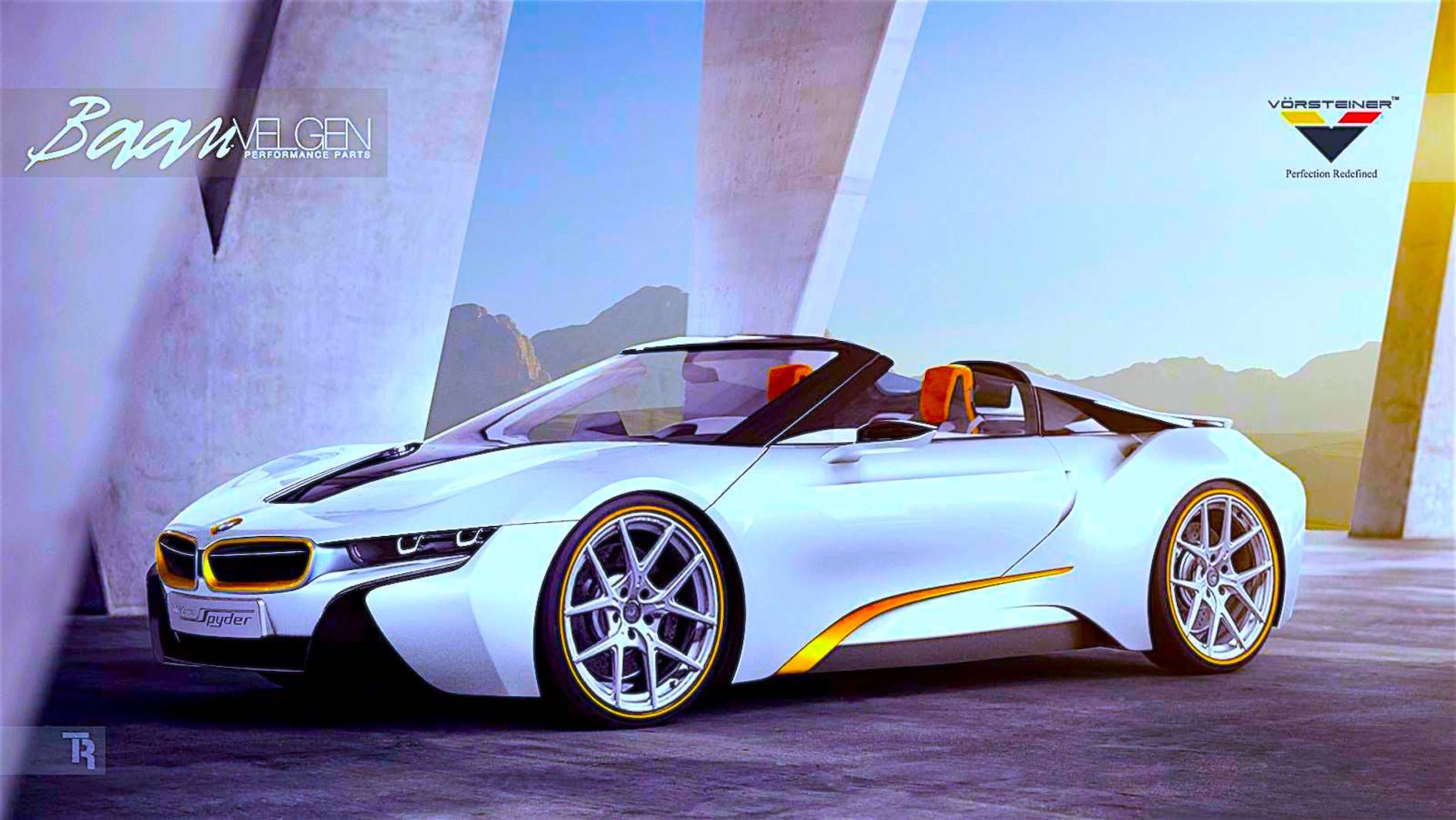 Bmw I8 Spyder White Gold Cool Things