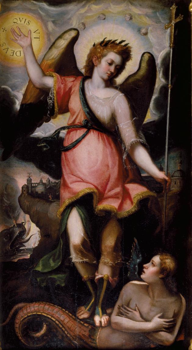 Juan Sariñena  Saint Michael the Archangel  From 'Retablo de las Ánimas' (1602)  Parroquia de la Santa Cruz, Valencia