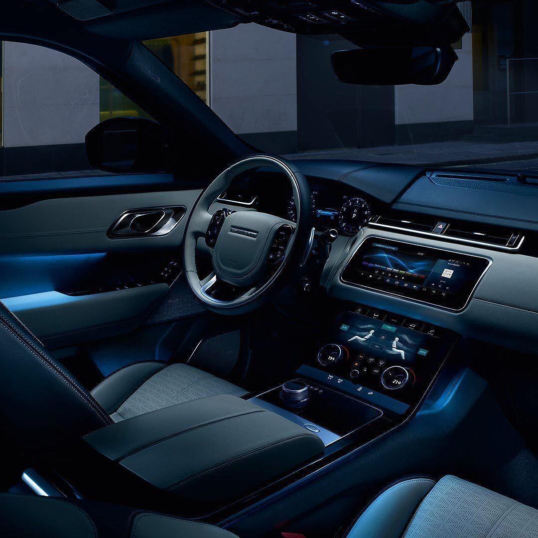 range rover velar looks stunning at night rangerover velar car photos pinterest range. Black Bedroom Furniture Sets. Home Design Ideas
