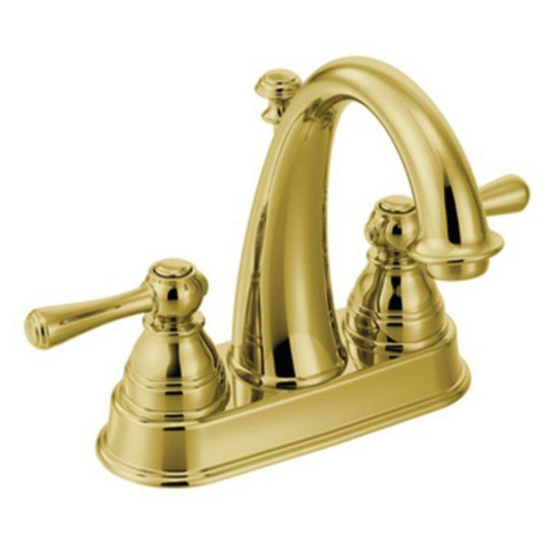 Moen Kingsley Polished Brass Two Handle