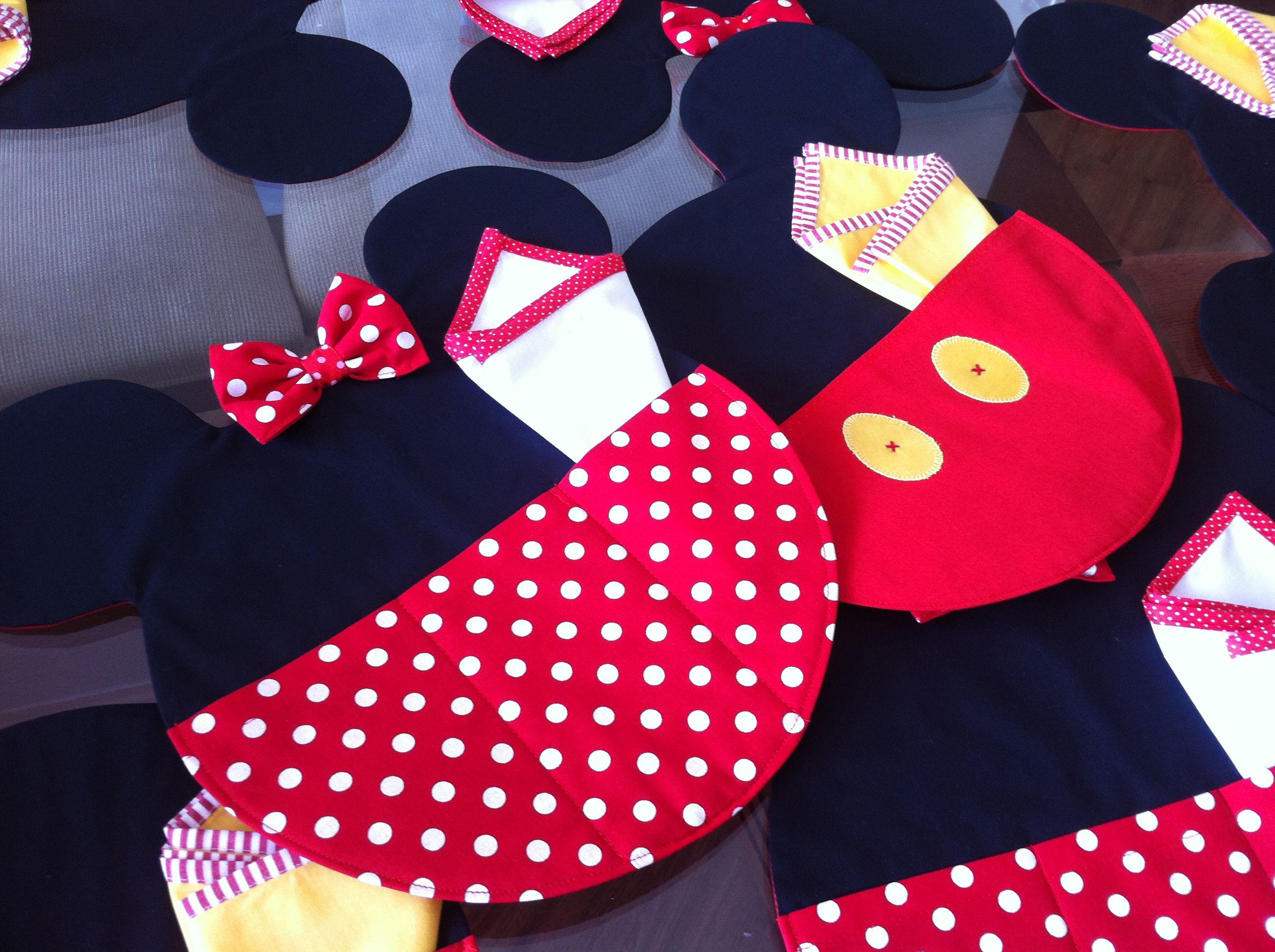 Jogo Americano Minnie E Mickey Sewing Quilt Pinterest  ~ Cozinha Da Minnie De Verdade