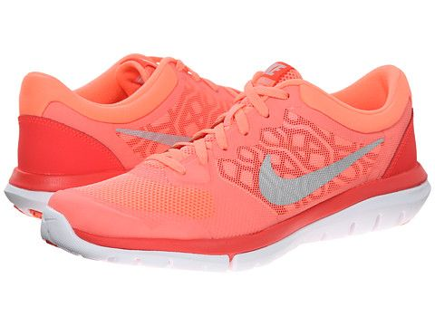 Nike Flex 2015 RUN Lava Glow/Bright Crimson/University Red/Metallic Silver  -. Running Shoes NikeWomen ...