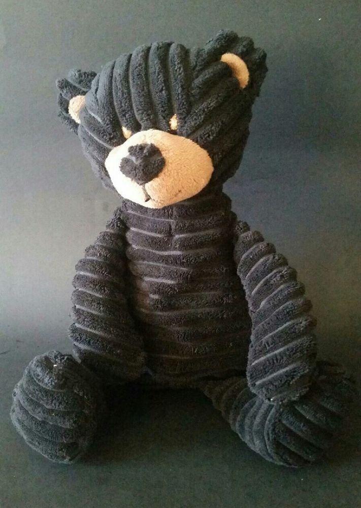 Teddy Bear Stuffed Toy, Unipak Kordy Bear Black Corduroy Stuffed Plush Toy Floppy Soft Lovey 13 Inches Unipak Alloccasion Bear Stuffed Animal Bear Plush Soft Teddy