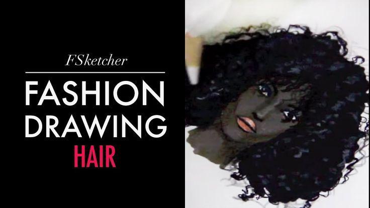 CURLY BLACK HAIR | Fashion Drawing,  CURLY BLACK HAIR | Fashion Drawing,