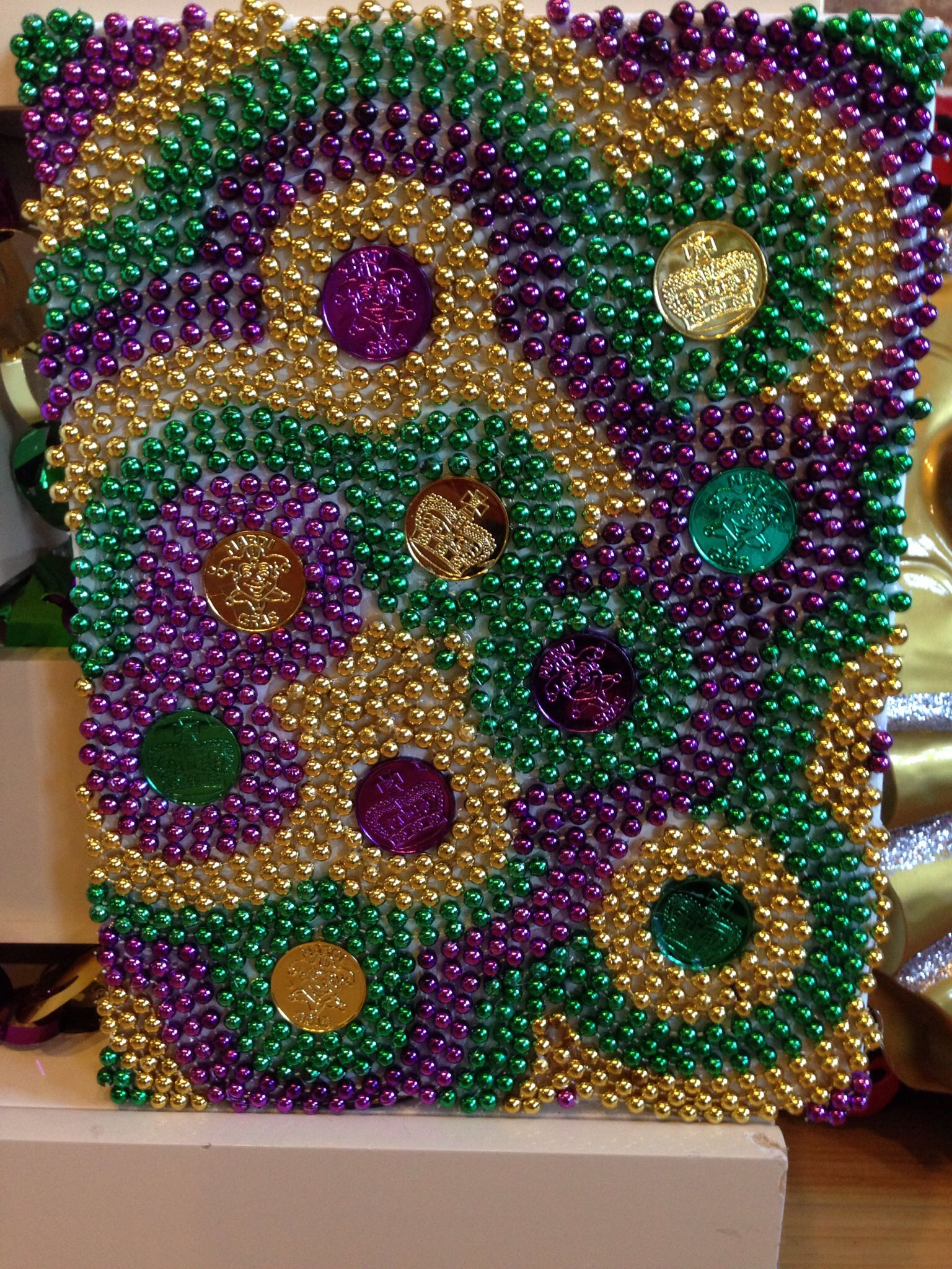 Mardi Gras Great Use Of Left Over Beads And Doubloons