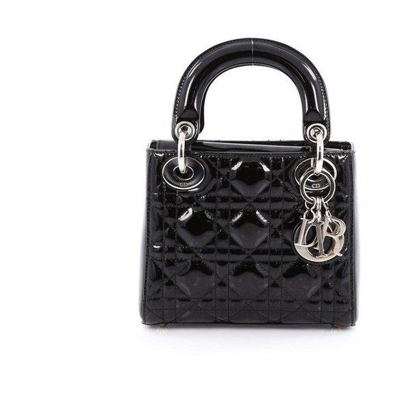 eb71210c1b Pre-Owned Christian Dior Lady Dior Handbag Cannage Quilt Patent Mini (5770  QAR)