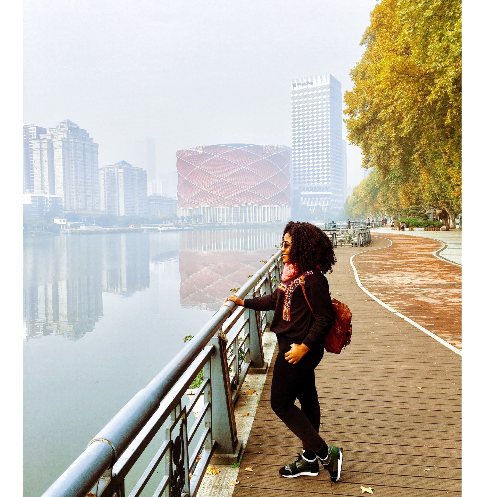Beautiful fall photography Wuhan, China