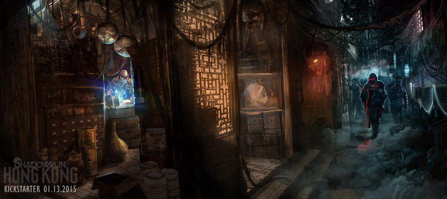 Harebrained Schemes Reveals Shadowrun Hong Kong Shadowrun Cyberpunk Concept Art