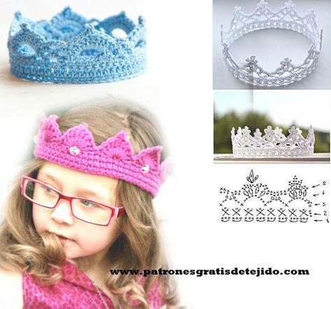 ideas de coronas tejidas al crochet | Gorros | Pinterest | Coronas ...