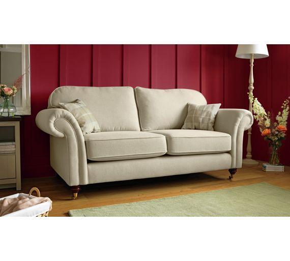 Buy Heart Of House Windsor High Back Large Fabric Sofa   Cream At Argos.co