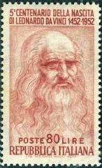万能の天才・画家 レオナルド・ダ・ヴィンチ(Leonardo da Vinci)の絵画切手