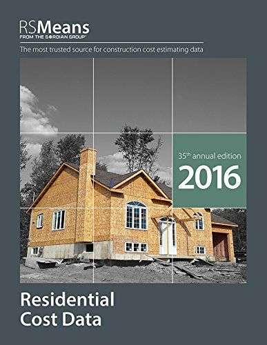 1943215162 Rsmeans Residential Cost Data 2016 Construction Cost Residential Construction Residential