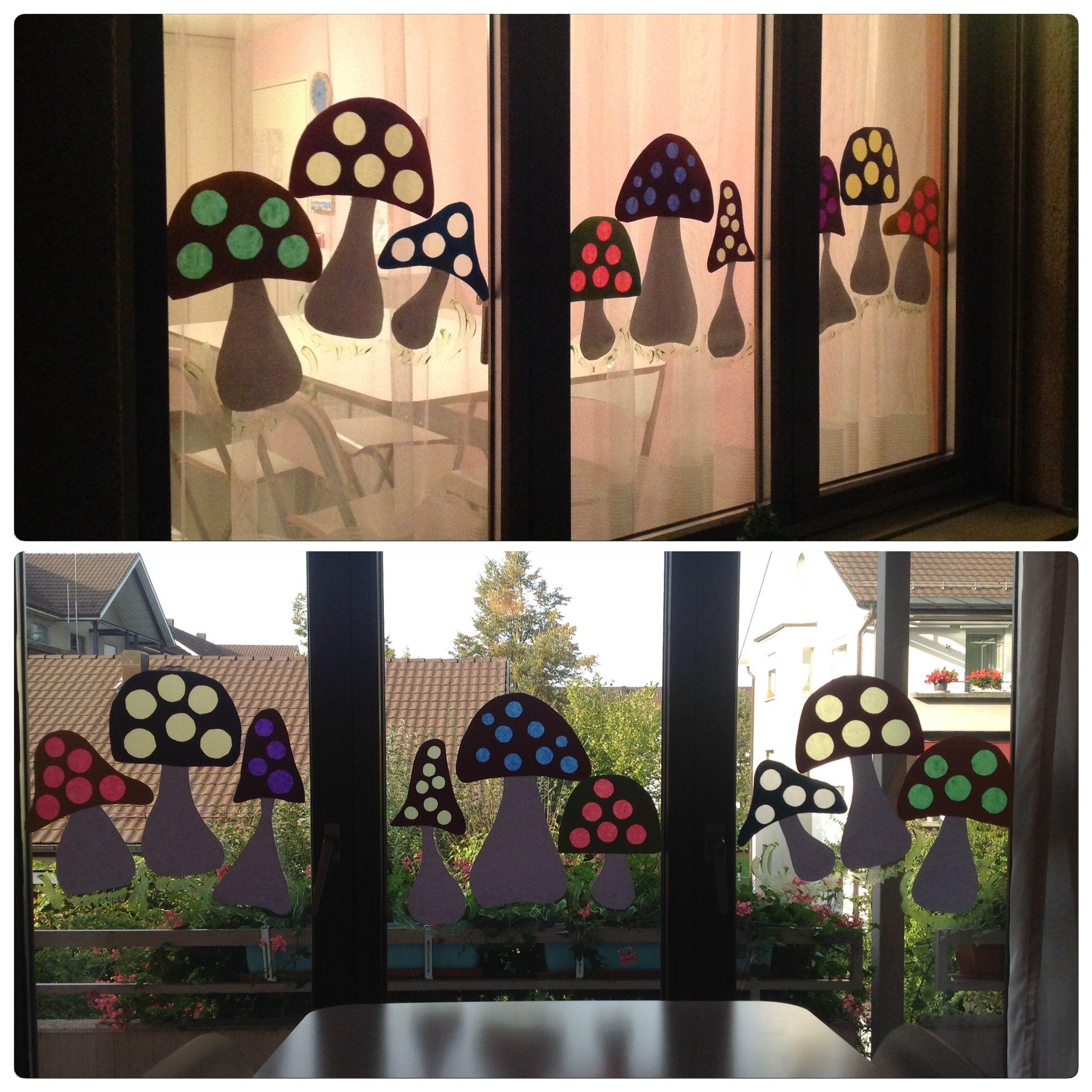 Herbstfenster herbst 2017 herbst basteln herbst und - Fensterdeko herbst grundschule ...