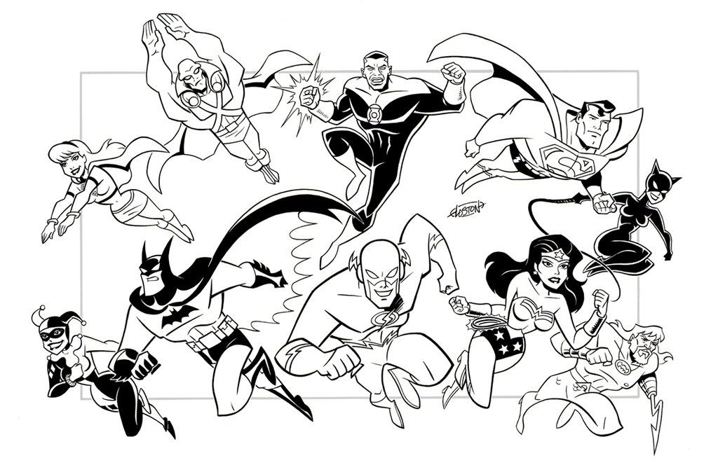 Justice League Coloring Book Pages
