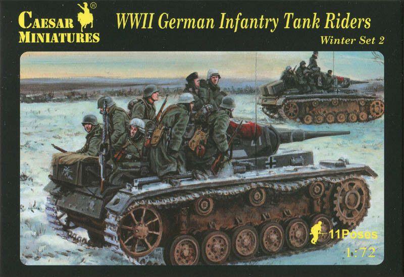 Caesar Miniatures GERMAN WWII SOLDIERS WITH TANK RIDERS Figure Set